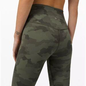 "Lululemon Align Pant 25"" * Heritage 365 Camo Green"